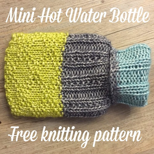 Knitting Pattern Hot Water Bottle : Free Pattern: Knits & Purls Mini Hot Water Bottle Cover Crafts from the...