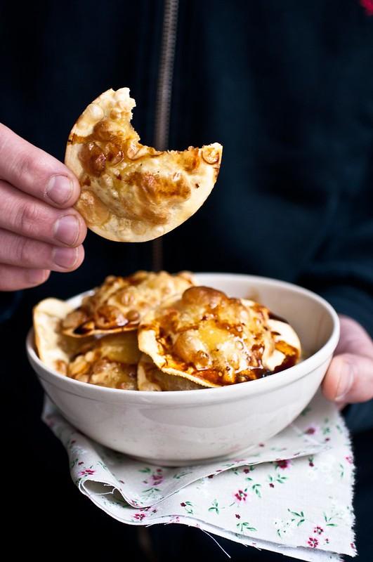 Ravioli ai funghi fritti e Ficotto