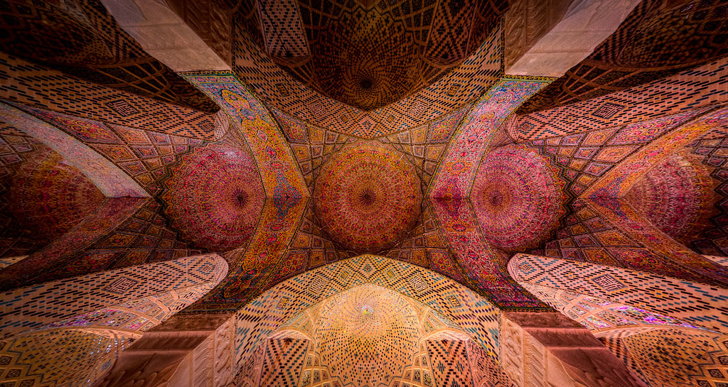 Ceiling of Nasir al-Mulk mosque, photo by Mohammad Reza Domiri Ganj