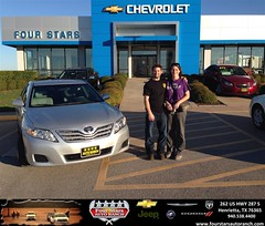 #HappyAnniversary to Russ and Tosca Sanders on your 2010 #Toyota #Camry from Everyone at Four Stars Auto Ranch!