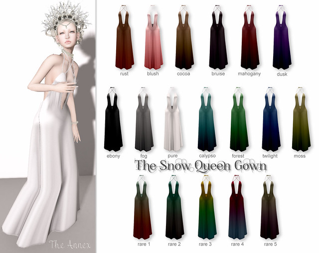 TA SNOW QUEEN GOWN COLLECTION GACHA KEY
