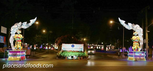 hatyai park lantern festival front entrance