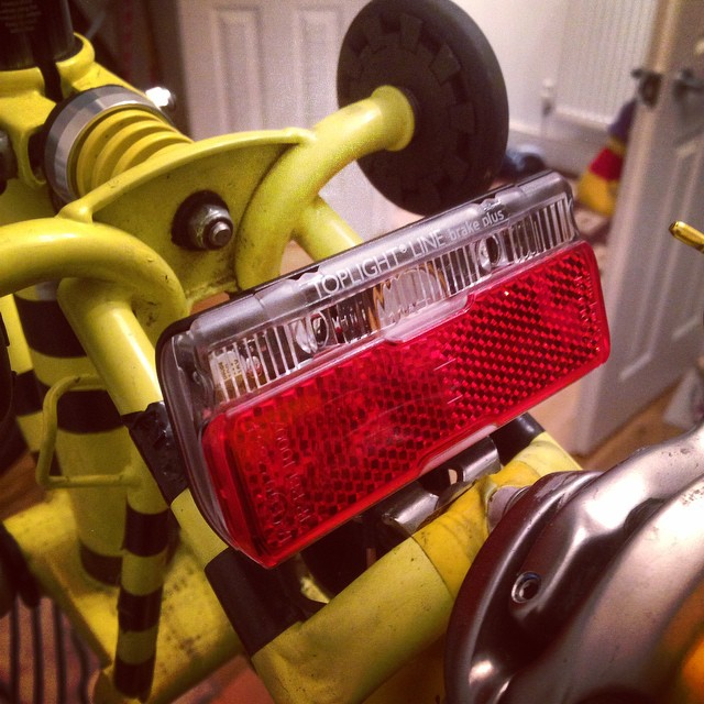 Other good news we finally got our Dynamo rear light. #cycling #dynamo #lights