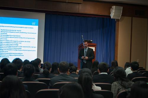 Zarb Executive Speaker Series: John Burke, Senior Vice President & Market Director, Citigroup speaks to graduate students.