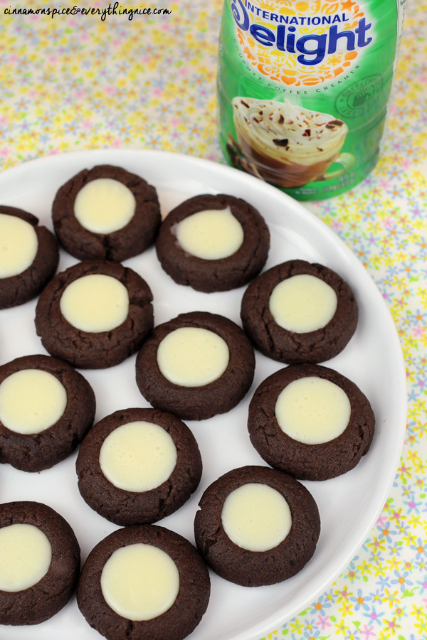 Irish Creme Coffee Thumbprints #desserts #ads #IDelight