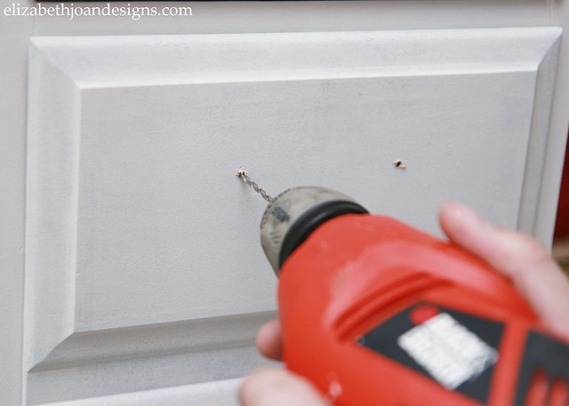 Drill Drawer Pull Holes