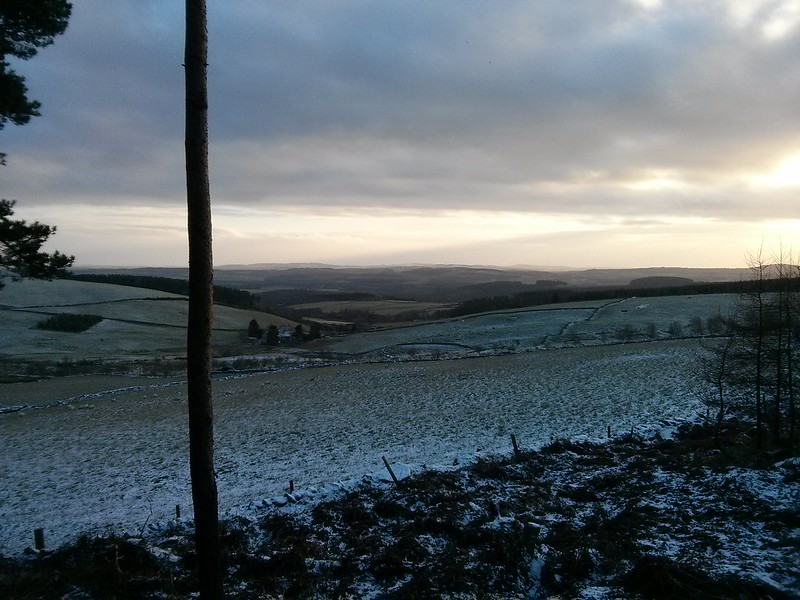 Open views near Whitehills Farm