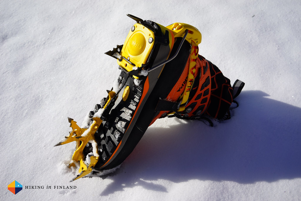 Scarpa Rebel Ultra GTX and Grivel G20 Crampons
