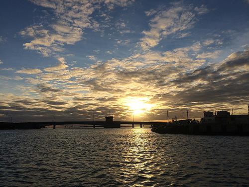 Sand Island bridge at sunset