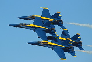 Blue Angels Diamond Pass at NAS Jacksonville 2014.