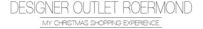 Christmas Shopping at Designer Outlet Roermond