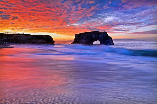 california morning light sky santacruz seascape color beach clouds sunrise landscape coast nikon surf waves tide naturalbridgesstatebeach singhray