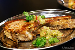 20141107-24-Pork chop with pineapple salsa at Fran…