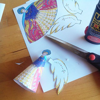 And some more #christmas  angel prototyping. I think I.m happy with it now. #angel #cards #holidays #holidaymood #paper
