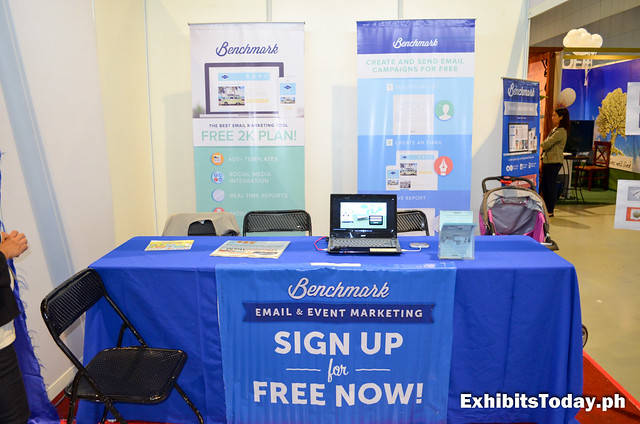 Benchmark Email Marketing Exhibit Booth
