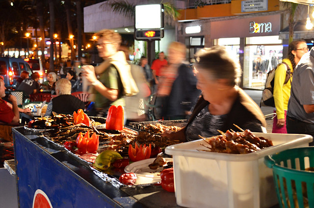 Wine and chestnut stalls, Puerto de la Cruz, Tenerife