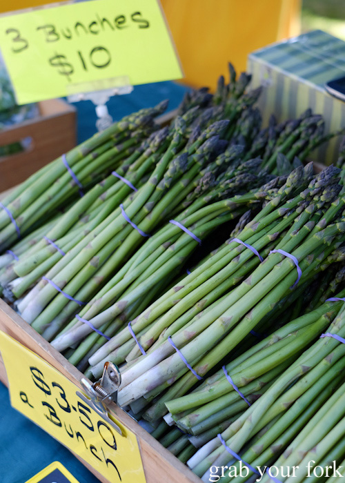 Bunches of asparagus at Abbotsford Convent Slow Food Farmers Market