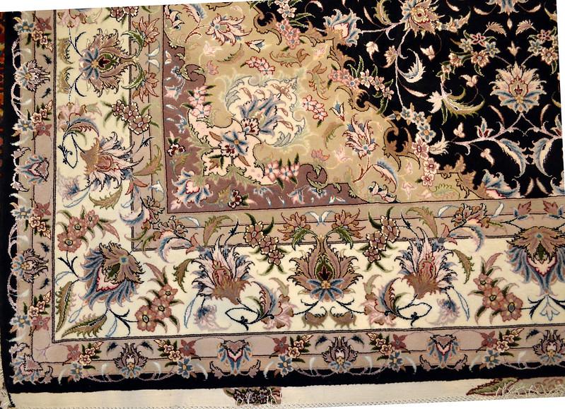 Taghizadeh black Persian Rug 7x10 Tabriz (1)