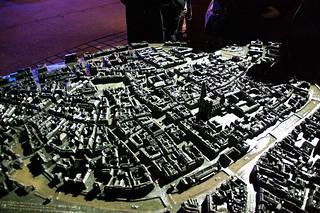 Maquette en relief du centre ville de Strasbourg
