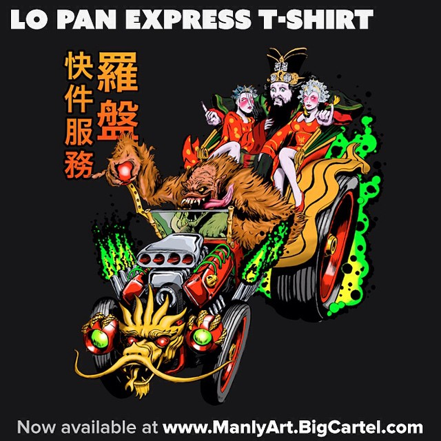 I finally have Lo Pan Express t-shirts in my store! #LoPan #hotrod #BigTrouble