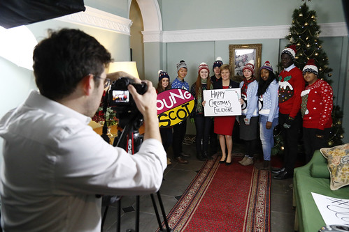 Young Scot share Festive Message with First Minister