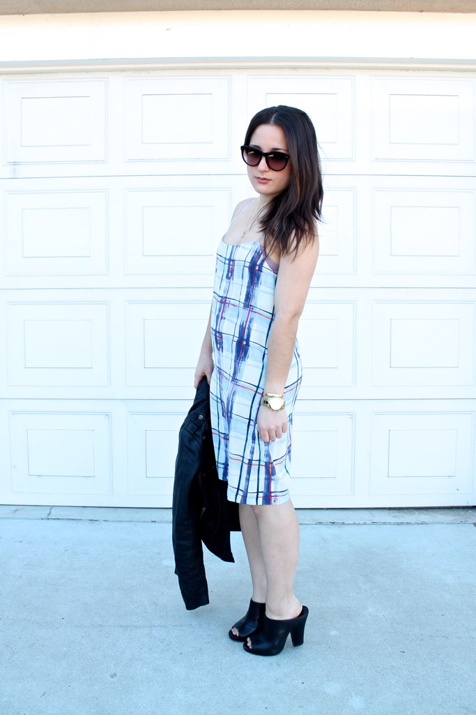 how to style a summer dress in winter