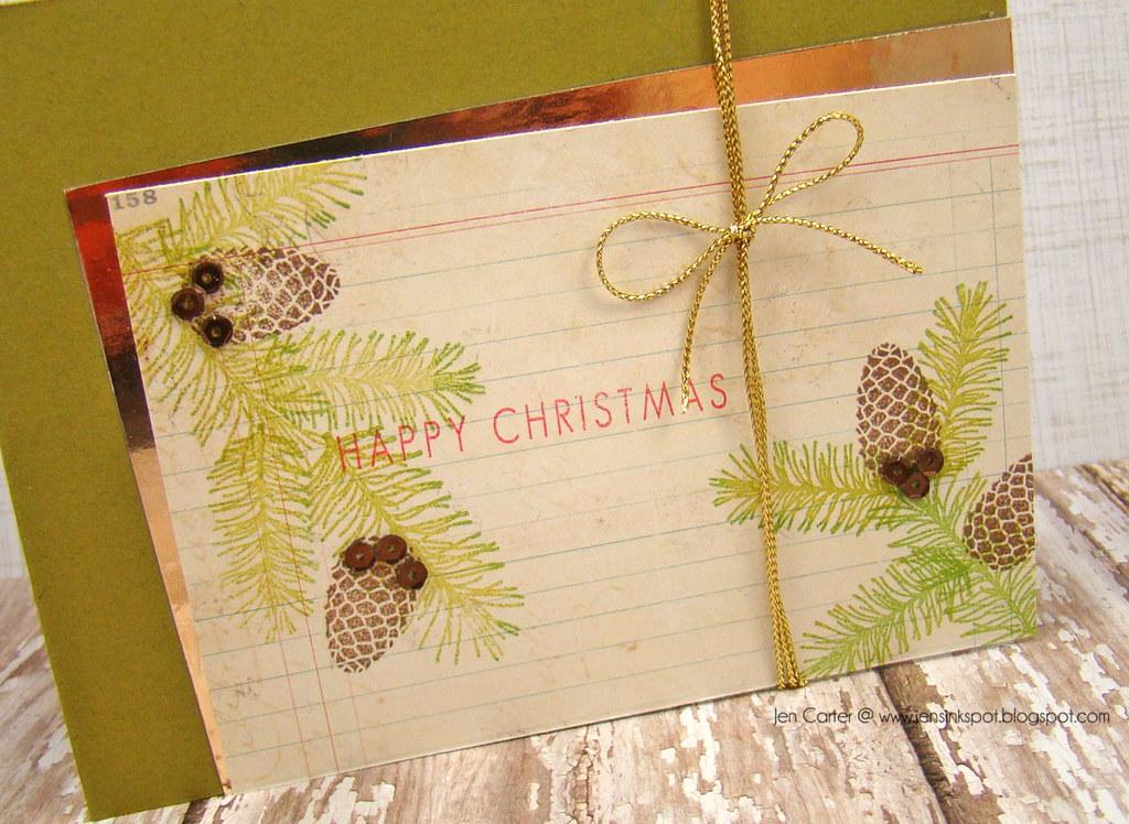 Jen Carter Pine Cone Christmas Closeup