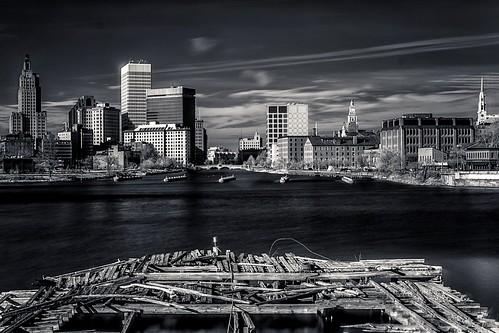 urban bw landscape providence rhodeisland infrared fujifilm xm1 xf35f14