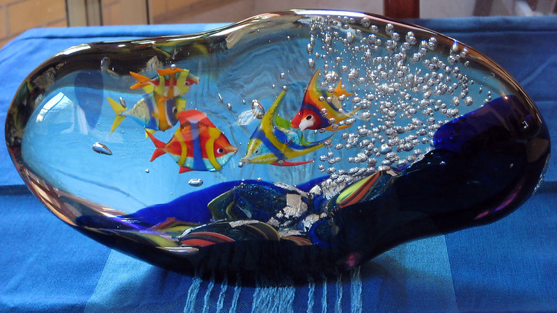 Murano glass fishbowl
