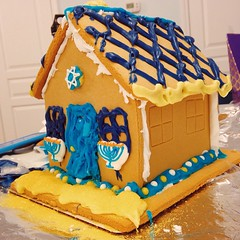 gingerbread house, buttercream, gingerbread, food, cake decorating, cuisine,