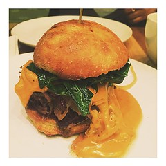 This cheddar brisket sandwich tho 🙌 #foodporn#brisket#cheddar#foodstagram #foodie#unf