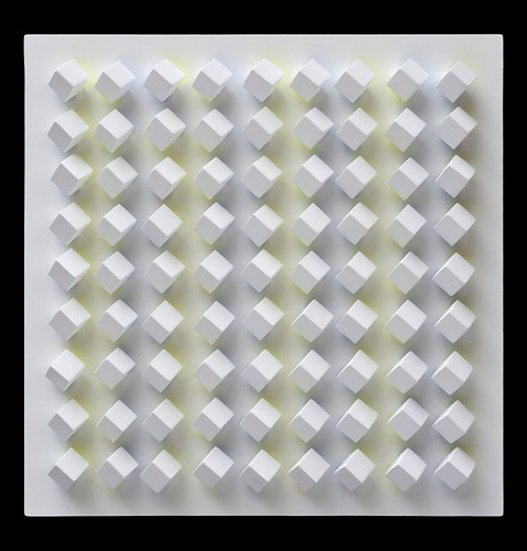 Luis Tomasello, Atmosphère Chromoplastique N.1016, 2012, acrylic on wood, 50 x 50 x 7 cm
