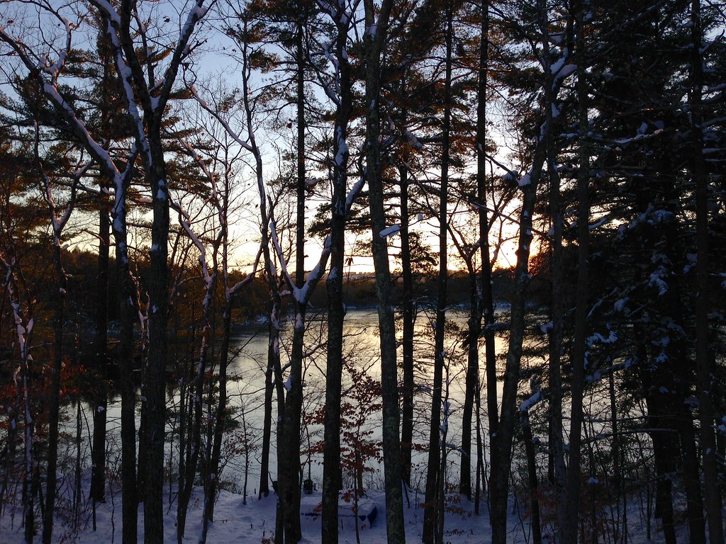 Foster Pond sunset