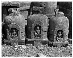 Ratnagiri - 3 Votive Stupas (Avalokitesvara & 2 Taras)  (8x10 Print)