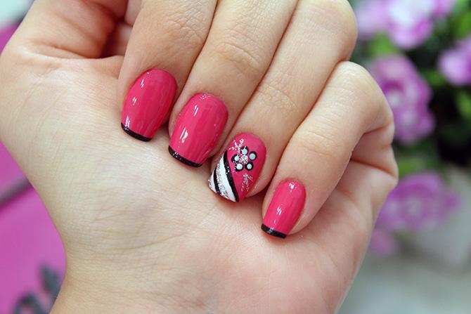 01-unhas decoradas nail art fácil e delicada com esmalte rosa camila coelho ync
