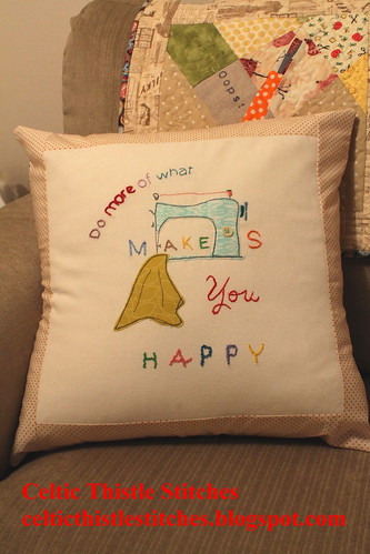Makes you Happy Cushion front