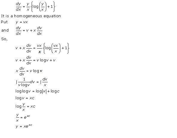 RD Sharma Class 12 Solutions Chapter 22 Differential Equations Ex 22.9 Q18