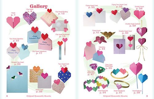 Origami Ronamtic Hearts Book!