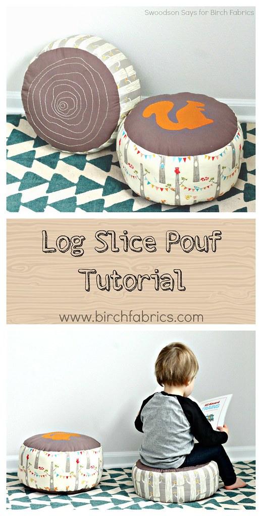 Free PDF Pattern | Log Slice Pouf | by Swoodson Says