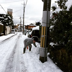 making snowmen #kyoto #japan #雪だるま #京都