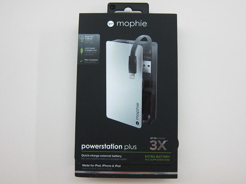Mophie Powerstation Plus (5,000mAh) - Box Front