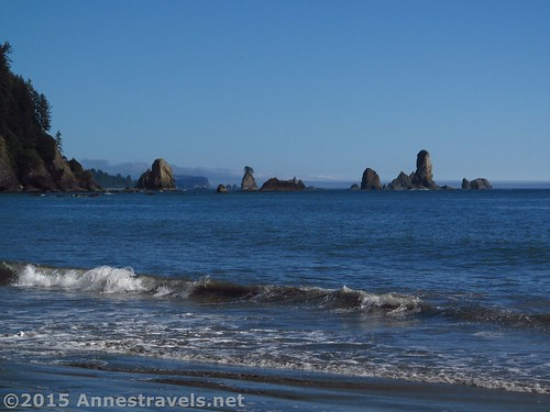 The Giant's Graveyard in the sunshine from Third Beach, Olympic National Park, Washington