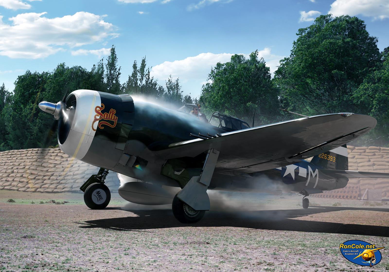рисунок P-47D Thunderbolt of the 395th FS