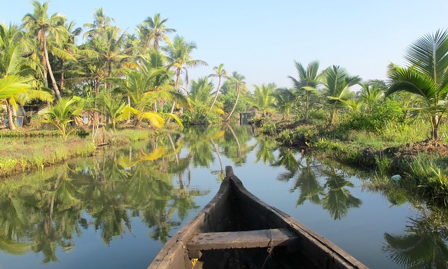 India - Munroe Island - backwater canoe tour