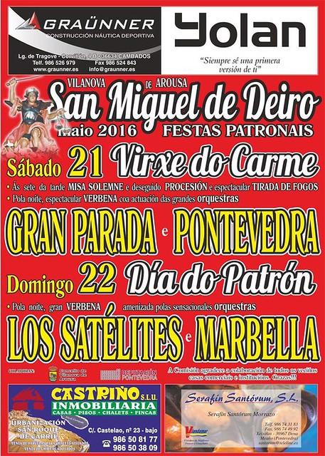 Vilanova de Arousa 2016 - Festas patronais de San Miguel de Deiro - cartel