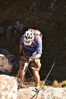 Tierkloof 1st abseil - photo by Peter-Jan Randewijk