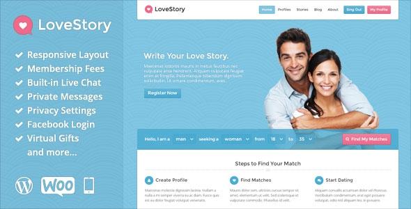 LoveStory v1.18 - Dating WordPress Theme