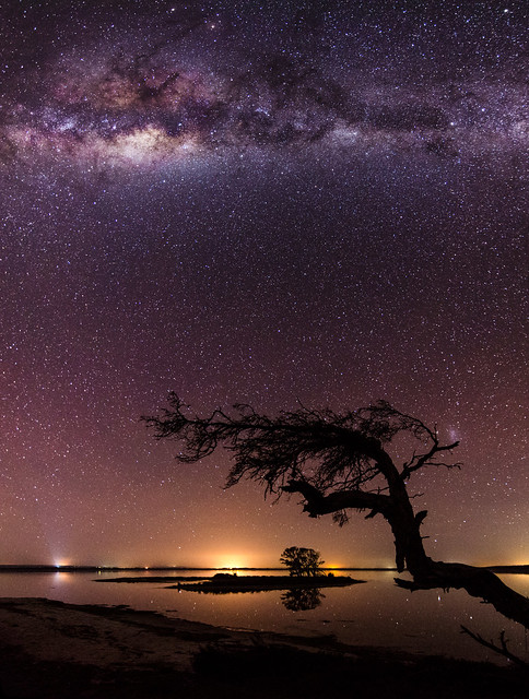 Milky Way above Island Point, Western Australia