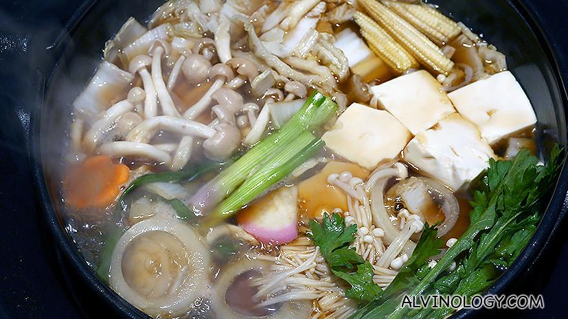 SHIMA's sizzling Sukiyaki pot