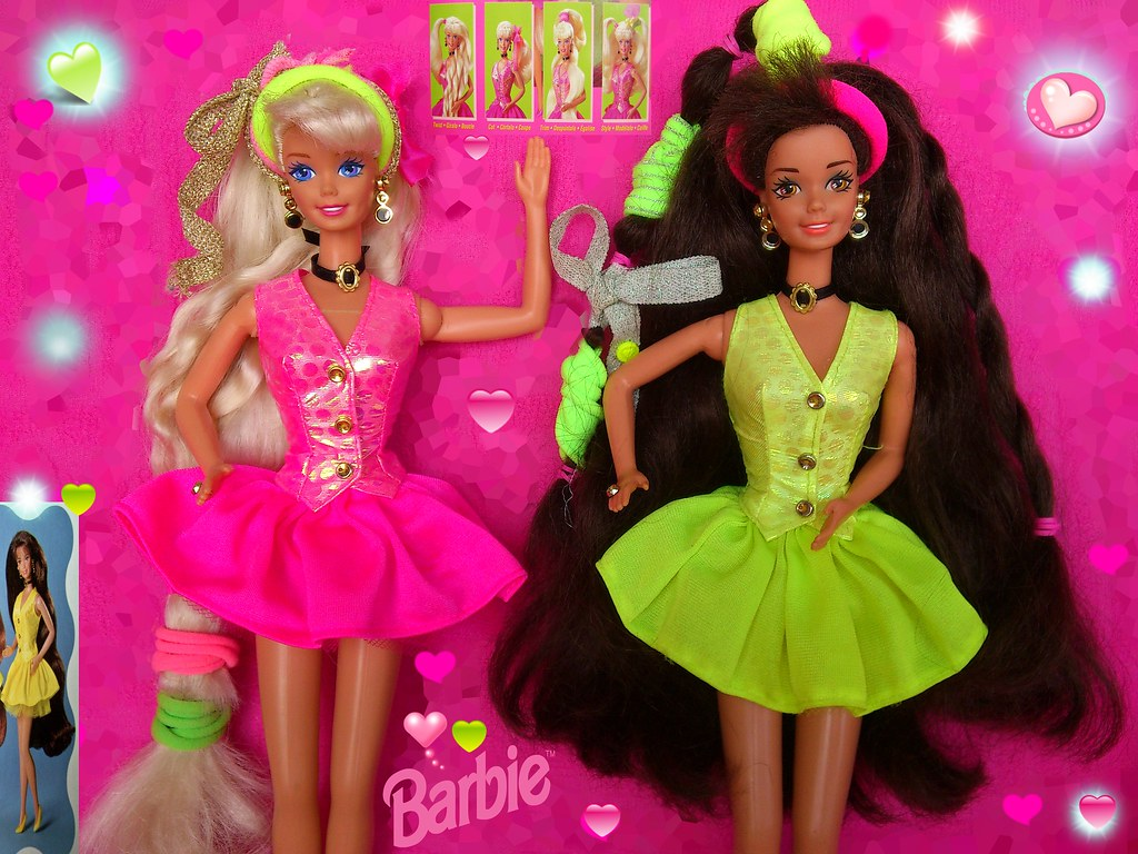 Cut And Style Barbie Blond Brunette 1994 Peinados Coupe Et Flickr